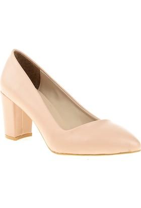 Derio Bayan Klasik Ayakkabı Pudra 28251