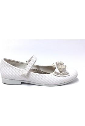 İremsu Kurdeleli Çocuk Ayakkabı Beyaz