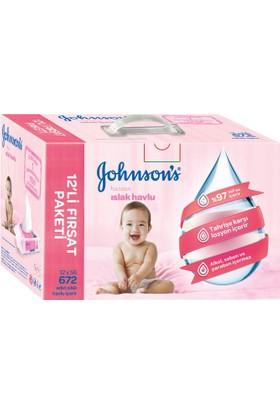 Johnsons Baby Parfümlü Islak Mendil 672 Yaprak 12'li Paket