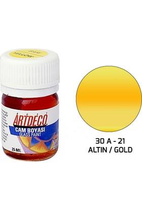 Artdeco Cam Boyası 25Ml - Altın
