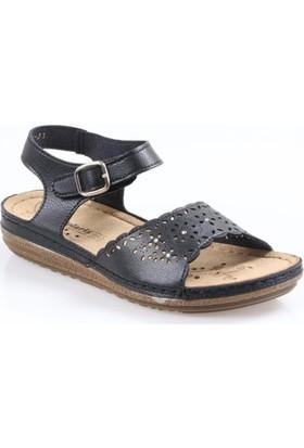 Polaris Bayan Anatomik Deri Sandalet