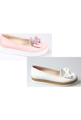Perla Kız Çocuk Dolgu Taban Ortapedik Ayakkabı