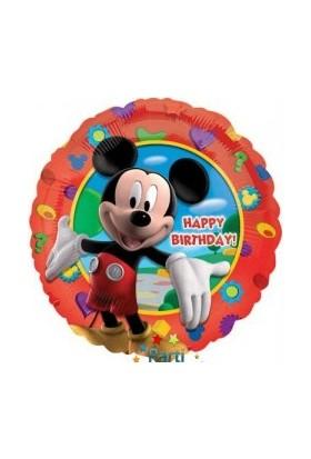 Dahice Mickey Mouse Club House Orijinal Lisanslı 43Cm Happy Birthday Folyo Balon