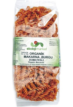 Ekoloji Market Organik Makarna Burgu Domatesli 300 Gr