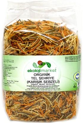 Ekoloji Market Organik Karışık Sebzeli Tel Şehriye 250 Gr
