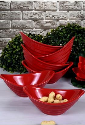 Keramika 6 Adet 16 Cm Gondol Kırmızı Bayrak Cerezlik