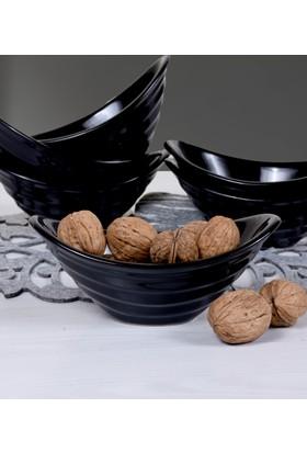 Keramika 6 Adet 16 Cm Gondol Siyah Cerezlik