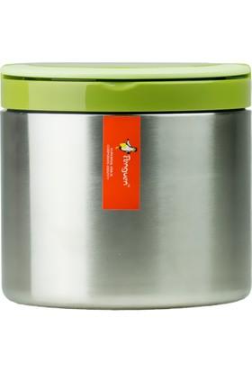 Penguen Png-30Çelik İnox Yemek Termosu Tekli Yeşil (Sefer Tası)