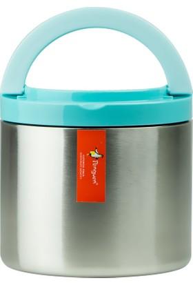 Penguen Png-30Çelik İnox Yemek Termosu Tekli Mavi (Sefer Tası)