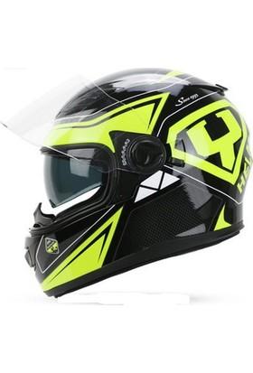 Yohe 970 Lıfe Yeşil Kapalı Motosiklet Kaskı