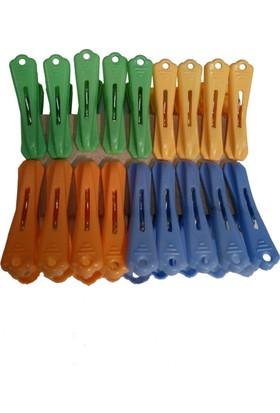 Dk 8 Parça Paslanmaz Çelik Yaylı Plastik Mandal 3063