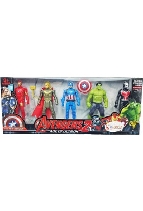 Kkd Yenilmezler Oyuncak 5 Li Thor Kaptan Amerika Ironman Hulk Ultron