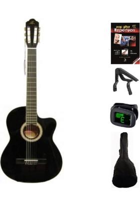 Barcelona Lc 3900 Klasik Gitar Seti 3 Renk (Gitar-Kılıf-Kapo-Gitar Metodu-Akort Cihazı-Pena)