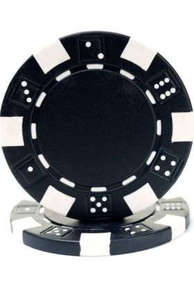 Pusula Oyun Siyah Renk 25 Adet Poker Çipi, Fişi, Chipi ,5 Gr