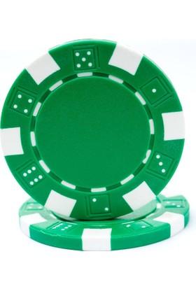 Pusula Oyun Yeşil Renk 25 Adet Poker Çipi, Fişi, Chipi ,5 Gr