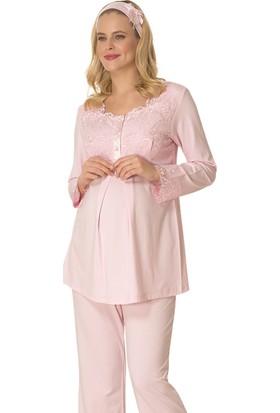 Mecit Lohusa Emzirme Pijama Takım M - 1715 Pembe