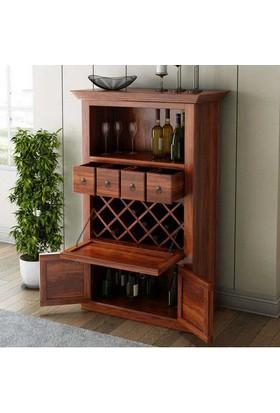 Lucky Wood Store Lucky Alabama Ahşap Şarap Dolabı