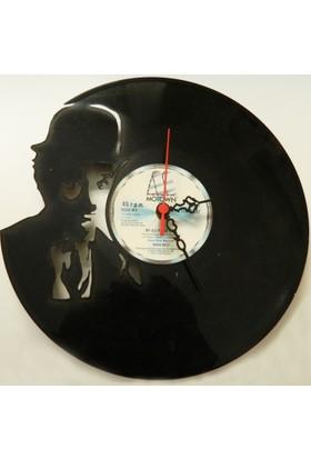 Kişiye Özel Plak Saat - Charlie Chaplin Temalı
