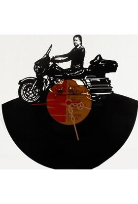 Kişiye Özel Plak Saat - Motosiklet Temalı