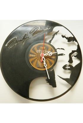 Kişiye Özel Dekoratif Plak Saat - Marilyn Monroe Temalı