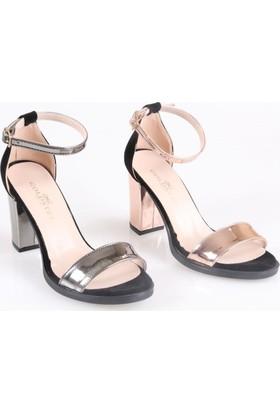 Gold Step Bayan Fantazi Topuklu Sandalet