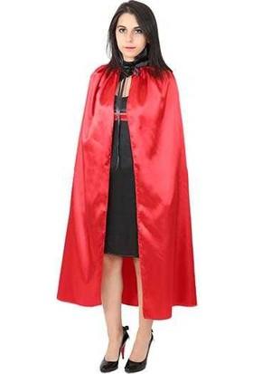Partijet Halloween Kırmızı Yakalı Pelerin 90 cm