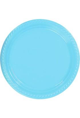 PartiBulutu Bebek Mavisi Plastik Tabak 22 cm 10'lu