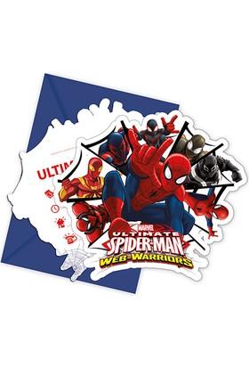 PartiBulutu Spiderman Savaşçı Davetiye