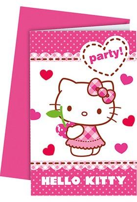 PartiBulutu Hello Kitty Kalpler Davetiye