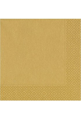 PartiBulutu Altın Kağıt Peçete 33cm x 33cm