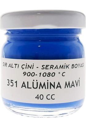 Sır Altı Çini Seramik Boyası 40Cc - 351 Alumina Mavi