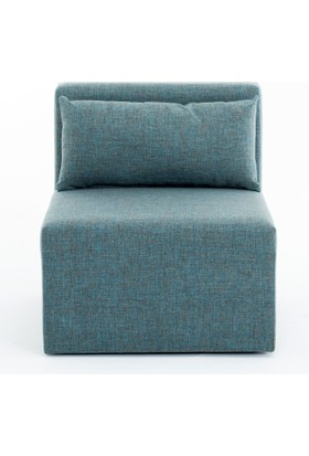 Evdebiz Plus+ Modüler Roslin Tekli Koltuk Mavi