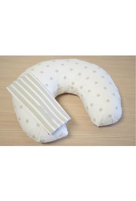 Laura Ashley Bebek Emzirme Yastığı Rocking Star - Beyaz Üzeri Yıldızlı