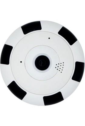 Taipien As-3602 Panoramik Tavan Kamerası 1080P, 360/180˚ P2P, Kayıt, Alarm, Wıfı, Ir, Kamera