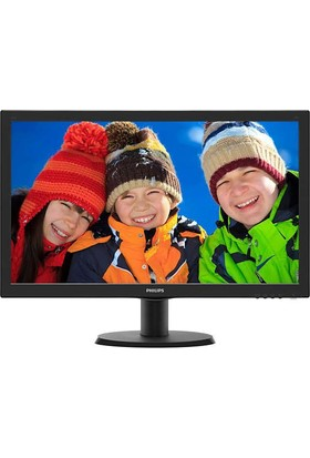 "Philips 243V5QHABA/01 23.6"" 8ms (Analog+DVI-D+HDMI) FHD MVA Monitör"