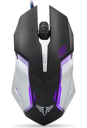Everest SM-G72 Usb Siyah/Gümüş Işıklandırmalı Oyuncu Mouse