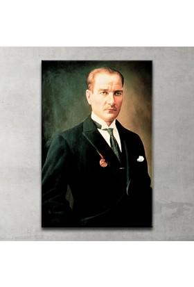 Plustablo Renkli Atatürk Portresi Kanvas Tablo 20x30 cm.