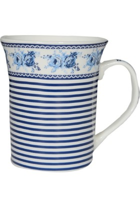 Bahat Tedarik Porselen Kupa Bardak Mavi Desen Baskılı