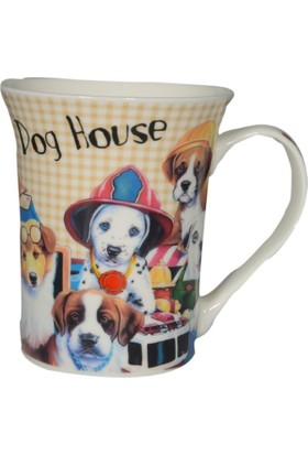 Bahat Tedarik Porselen Kupa Bardak Dog House Baskılı