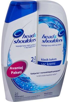 Head & Shoulders Şampuan Klasik Bakım 400 Ml 2 Li