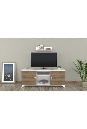 Sigmadecor Alnair Duvar Raflı Tv Ünitesi(Ceviz)