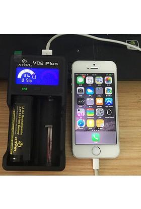 Xtar Vc2 Plus Usb Li-İon Xtar Vc2 Plus Master Pil Şarj Aleti