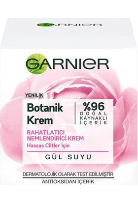 Garnier Botanik Krem Rahatlatıcı Nemlendirici Krem Gül Suyu 50 Ml