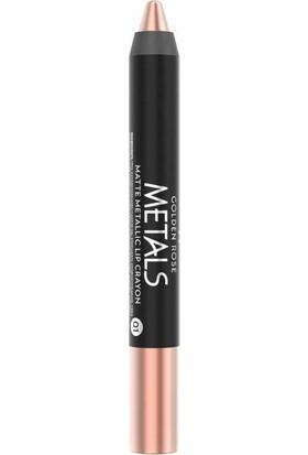 Golden Rose Metals Matte Metallic Lip Crayon No:01