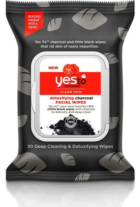Yes To Tomatoes Charcoal Facial Wipes 30 adet