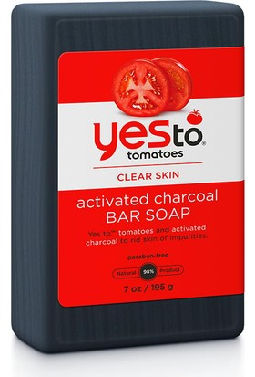 Yes To Tomatoes Charcoal Bar Soap 195g