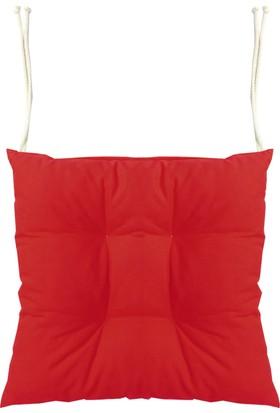 Textilla Kırmızı Pofidik Sandalye Minderi