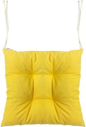 Textilla Sarı Pofidik Sandalye Minderi