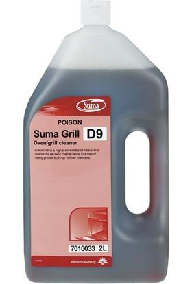 Diversey Suma grill D9 Ağır Yağ Çözücü Fırın Temizleme Maddesi 2 lt