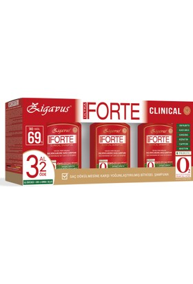 Zigavus Forte Ultra Clinical -Kuru ve Normal Saçlar- 3 Al 2 Öde